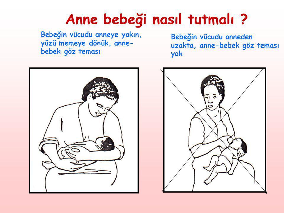 Anne bebeği nasıl tutmalı