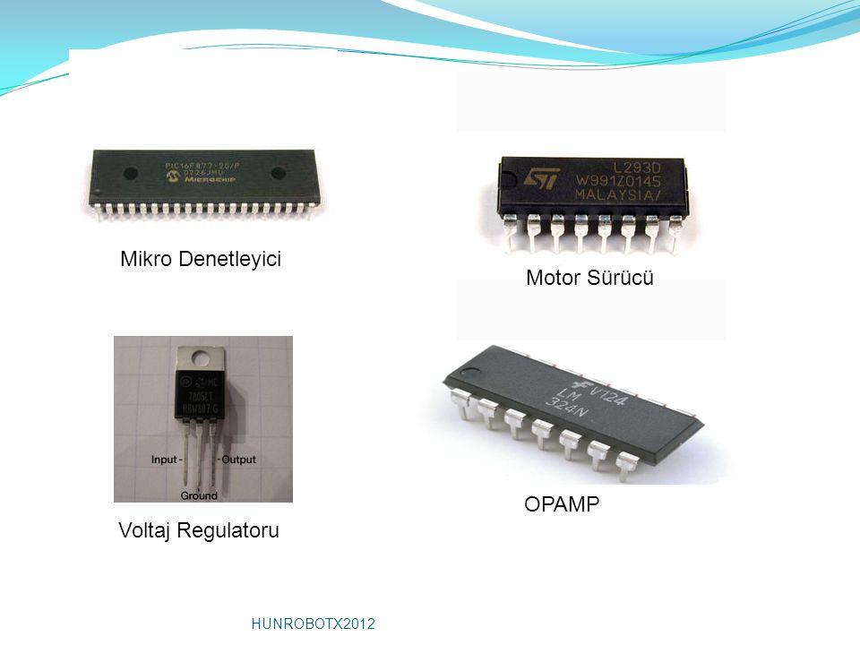 Mikro Denetleyici Motor Sürücü OPAMP Voltaj Regulatoru HUNROBOTX2012