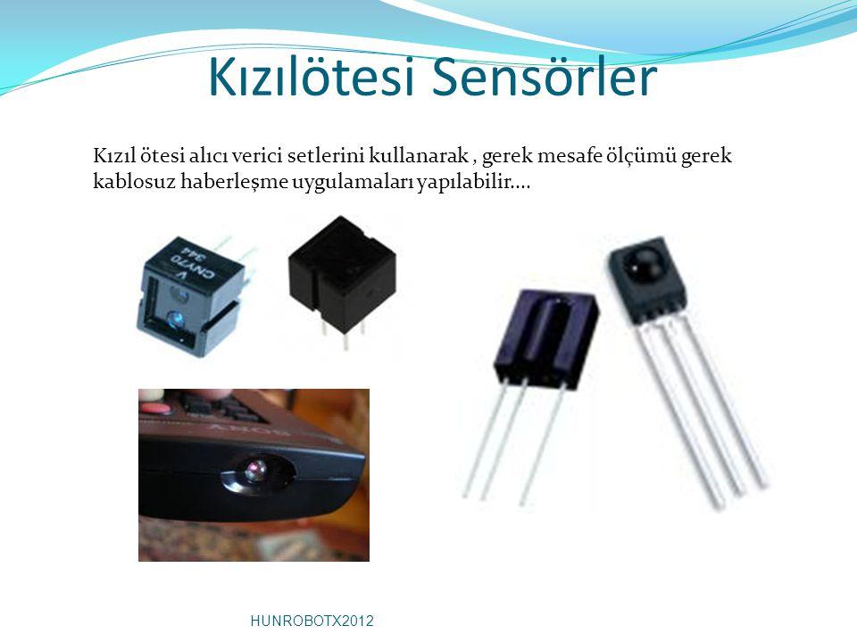 Kızılötesi Sensörler Kızıl ötesi alıcı verici setlerini kullanarak , gerek mesafe ölçümü gerek kablosuz haberleşme uygulamaları yapılabilir....