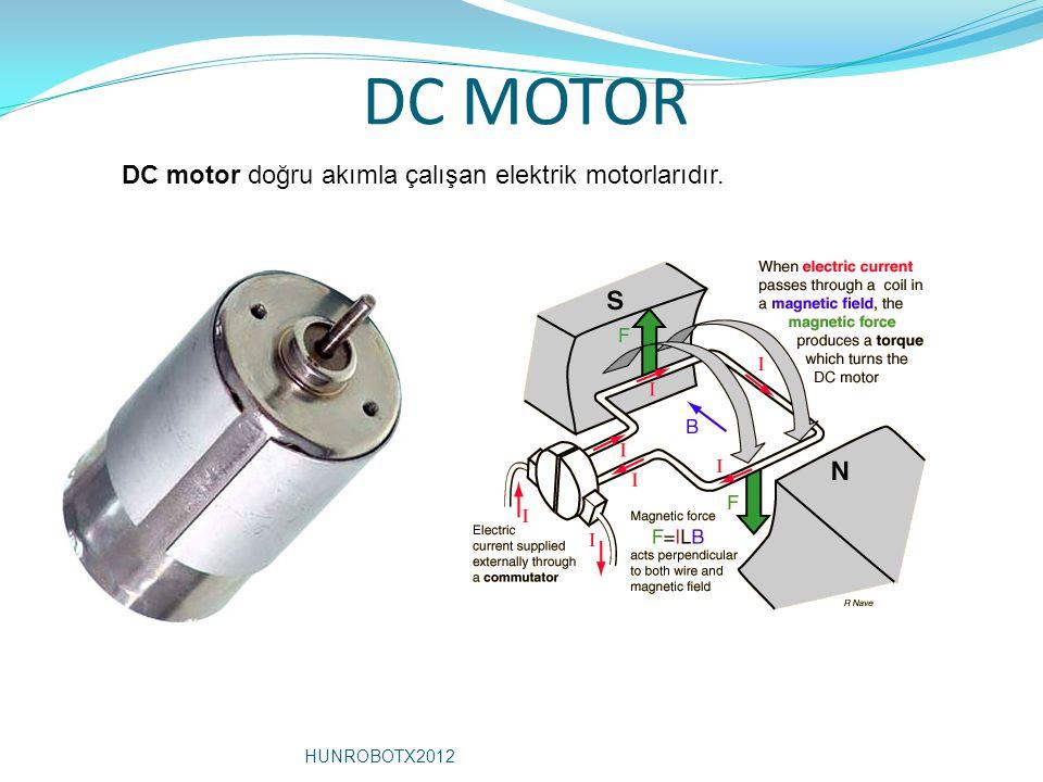 DC MOTOR DC motor doğru akımla çalışan elektrik motorlarıdır.