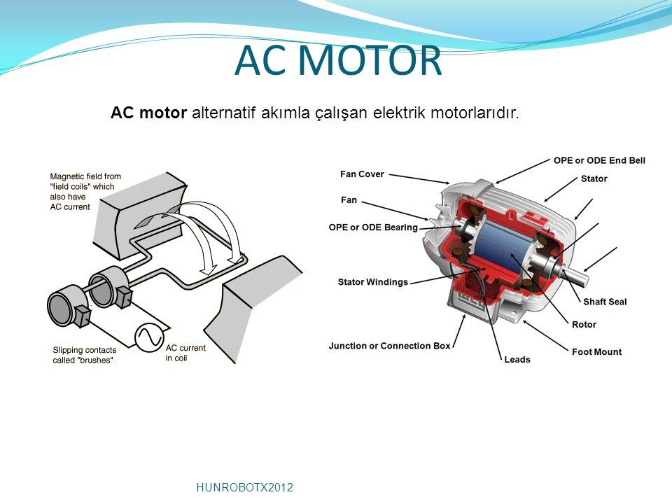 AC MOTOR AC motor alternatif akımla çalışan elektrik motorlarıdır.