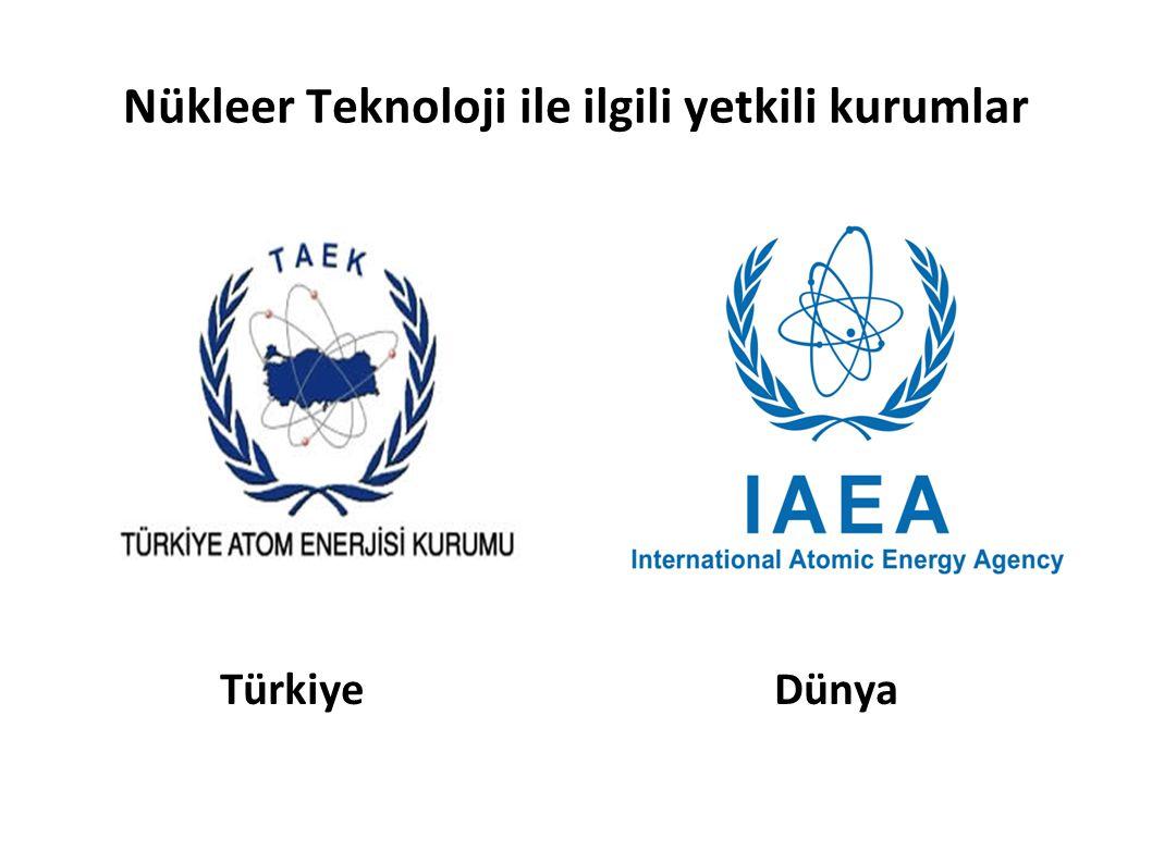 Nükleer Teknoloji ile ilgili yetkili kurumlar