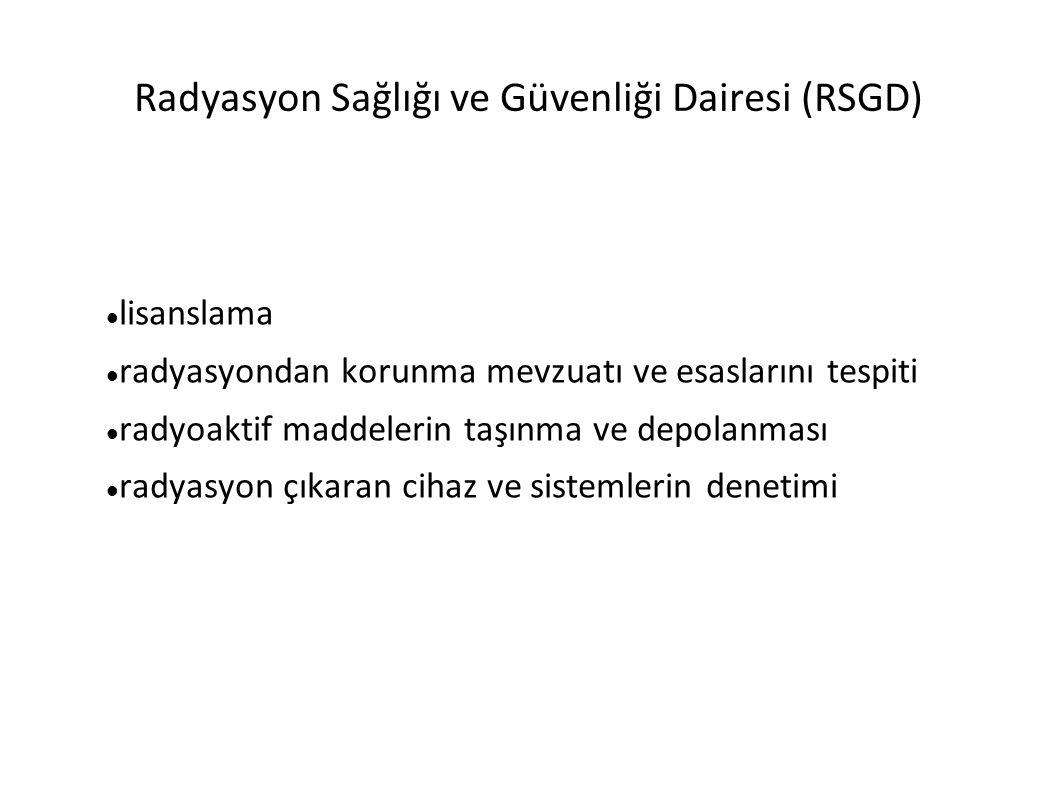 Radyasyon Sağlığı ve Güvenliği Dairesi (RSGD)