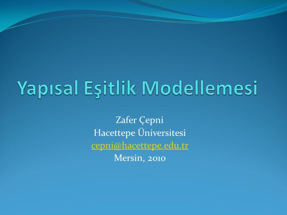 Yapısal Eşitlik Modellemesi