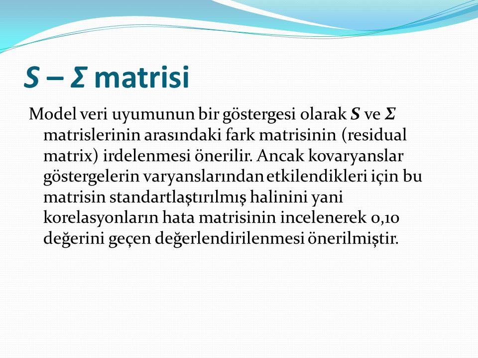 S – Σ matrisi