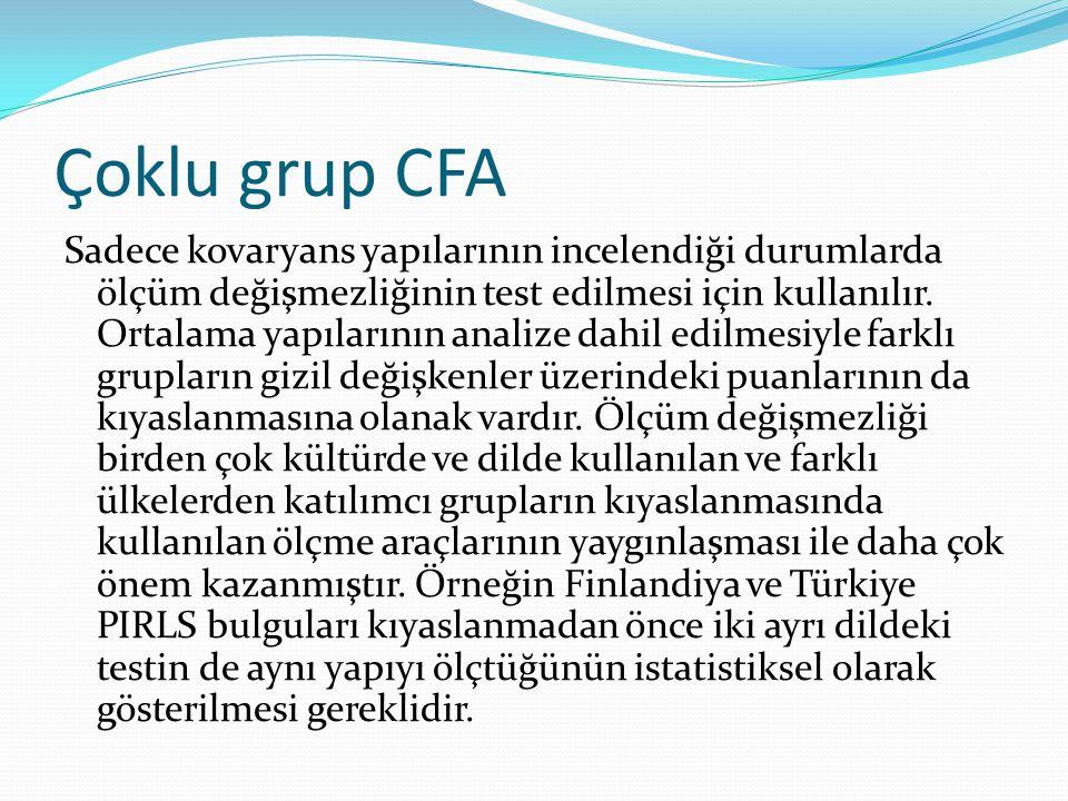 Çoklu grup CFA