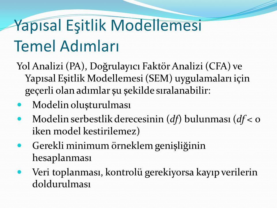 Yapısal Eşitlik Modellemesi Temel Adımları