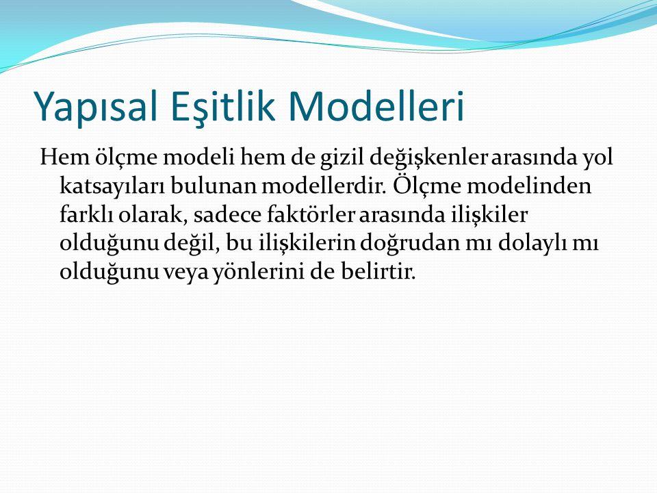 Yapısal Eşitlik Modelleri