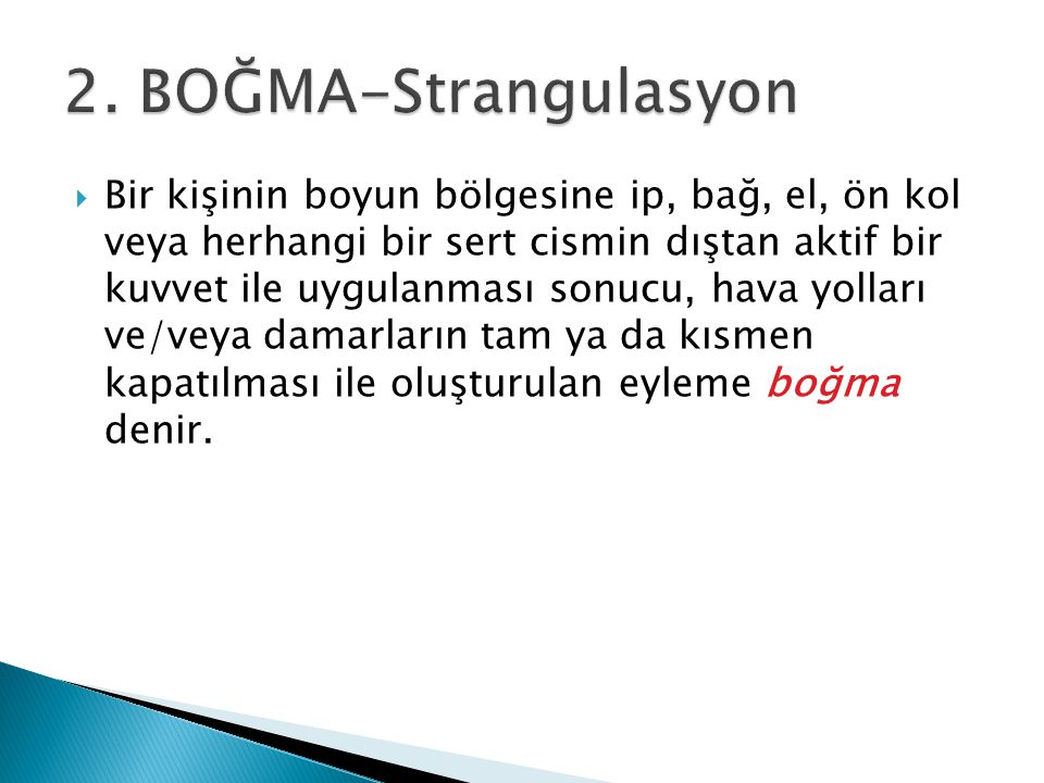2. BOĞMA-Strangulasyon