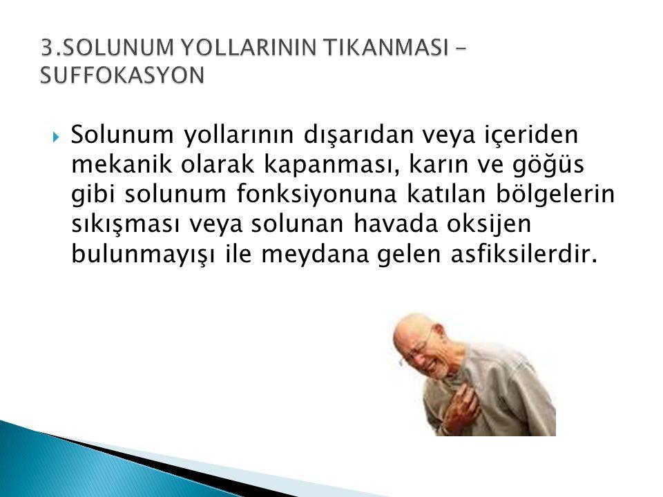 3.SOLUNUM YOLLARININ TIKANMASI - SUFFOKASYON