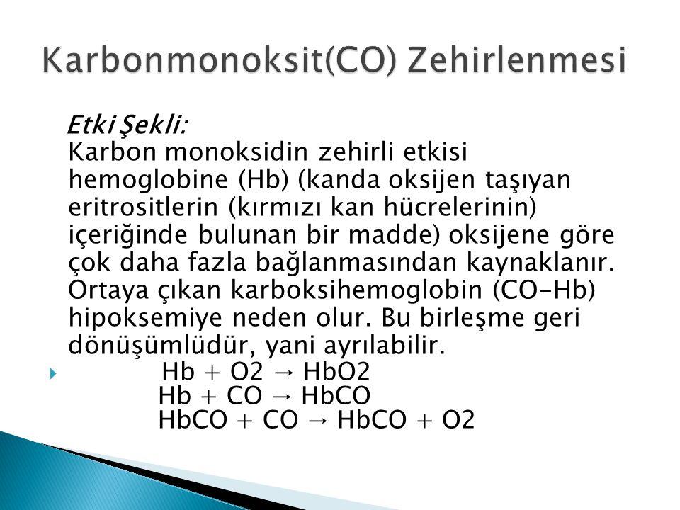 Karbonmonoksit(CO) Zehirlenmesi