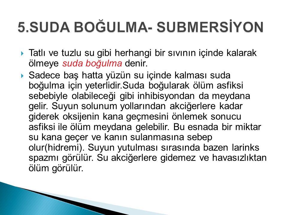 5.SUDA BOĞULMA- SUBMERSİYON