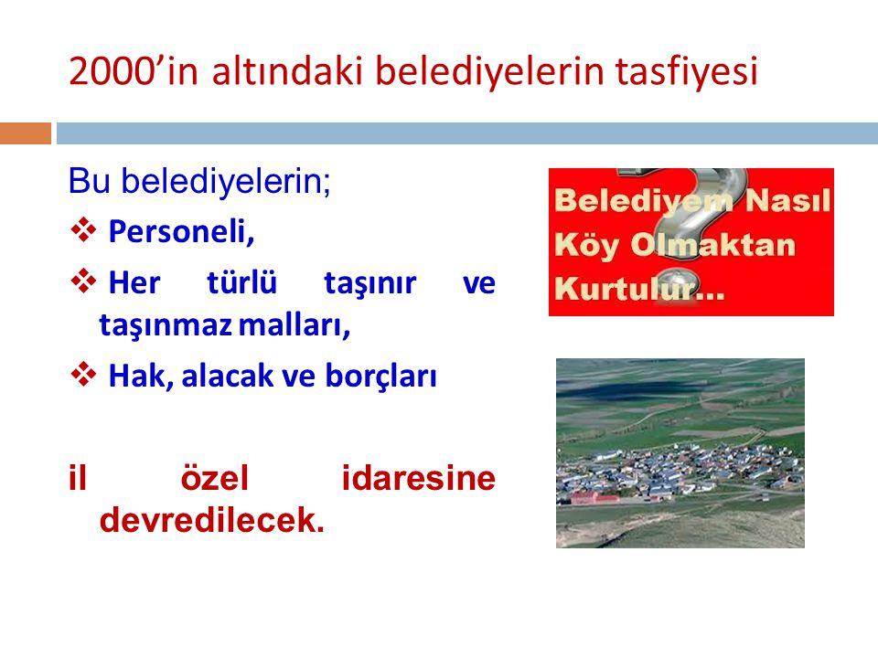 2000'in altındaki belediyelerin tasfiyesi