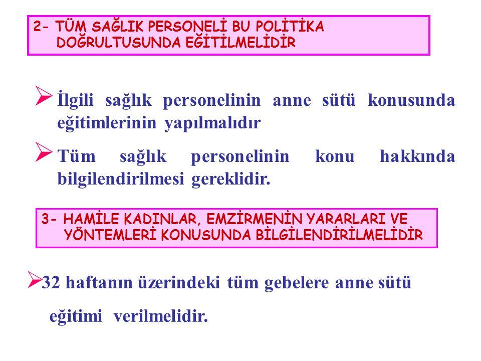 2- TÜM SAĞLIK PERSONELİ BU POLİTİKA