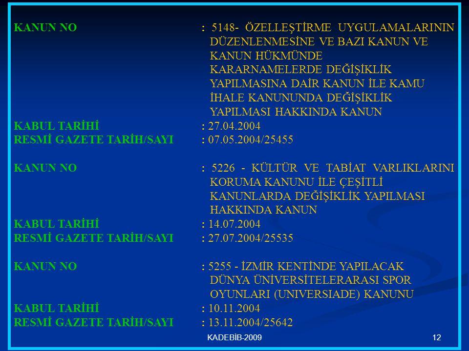 RESMİ GAZETE TARİH/SAYI : 07.05.2004/25455