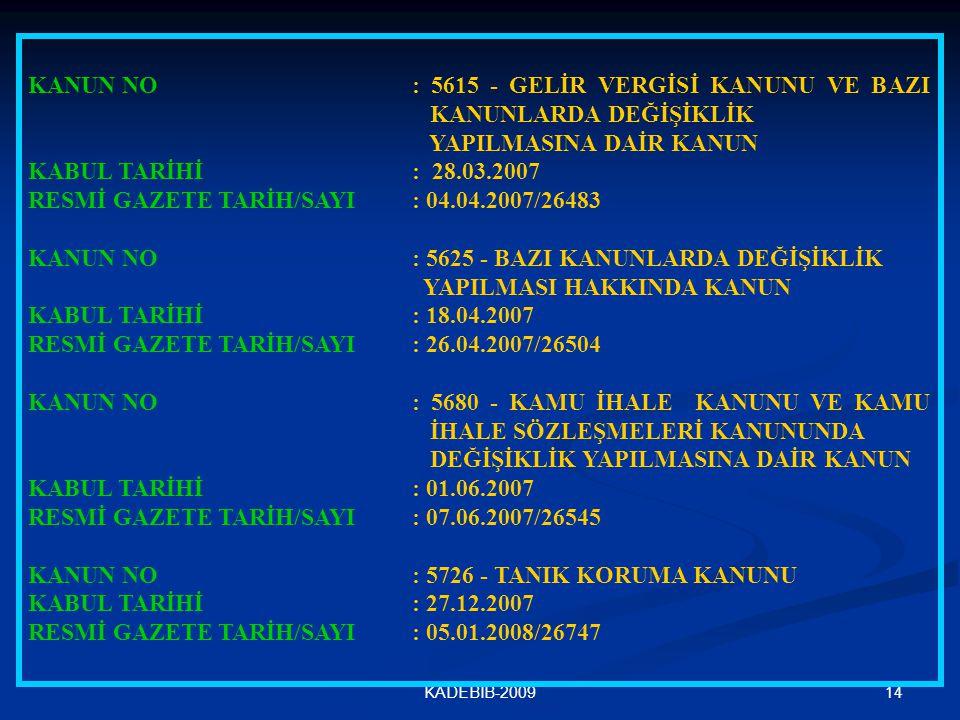 RESMİ GAZETE TARİH/SAYI : 04.04.2007/26483