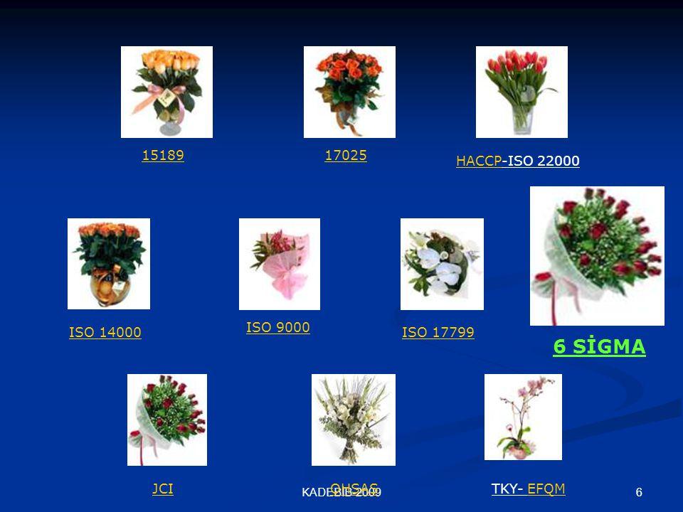6 SİGMA 15189 17025 HACCP-ISO 22000 ISO 9000 ISO 14000 ISO 17799 JCI