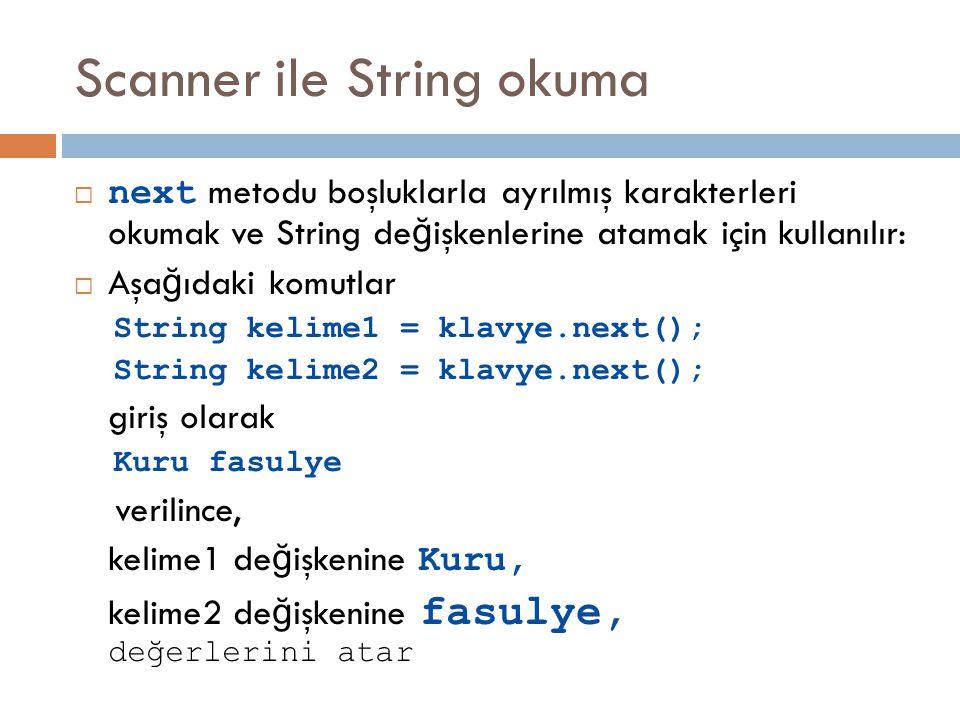 Scanner ile String okuma