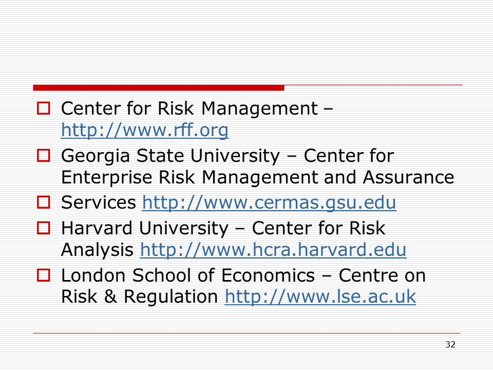 Center for Risk Management –