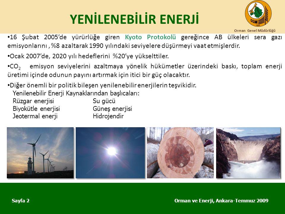YENİLENEBİLİR ENERJİ Orman Genel Müdürlüğü.