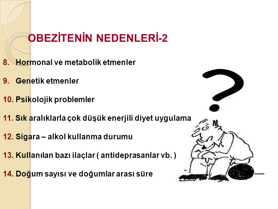 OBEZİTENİN NEDENLERİ-2