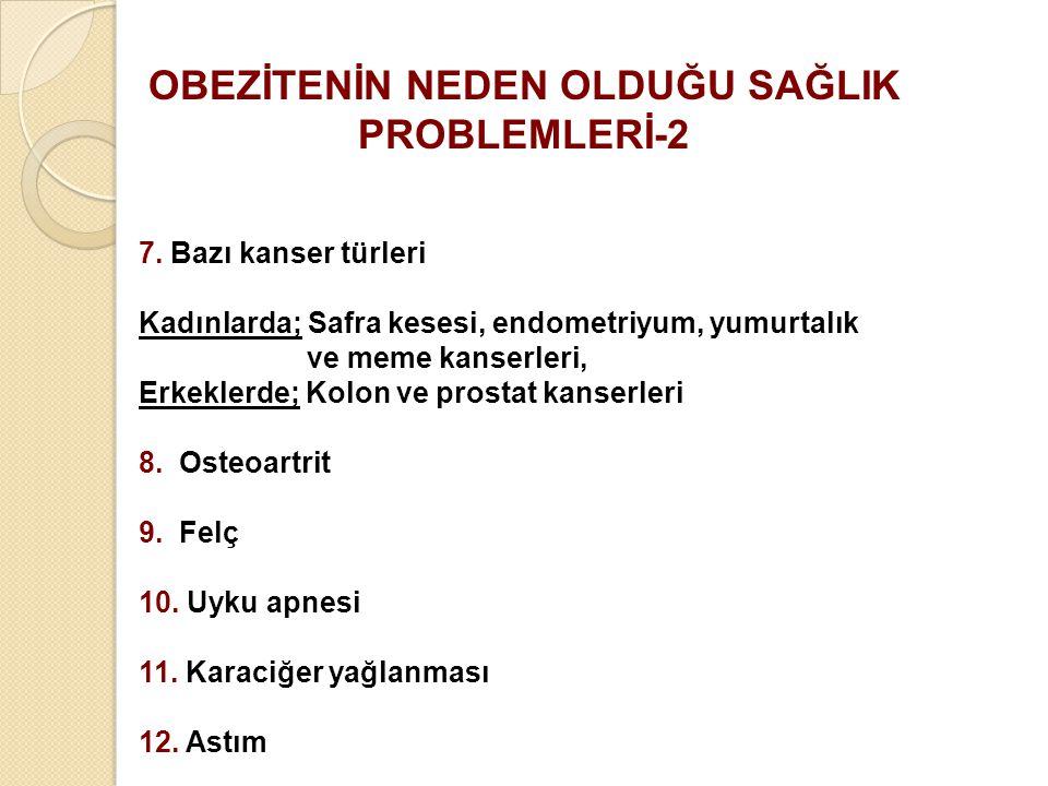 OBEZİTENİN NEDEN OLDUĞU SAĞLIK PROBLEMLERİ-2