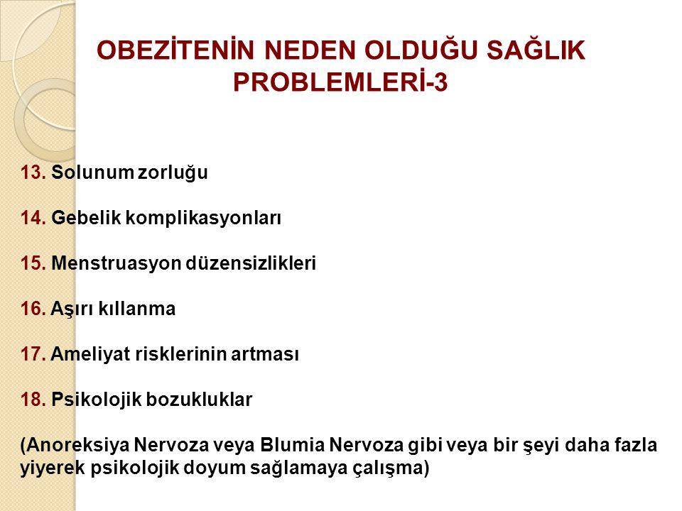 OBEZİTENİN NEDEN OLDUĞU SAĞLIK PROBLEMLERİ-3