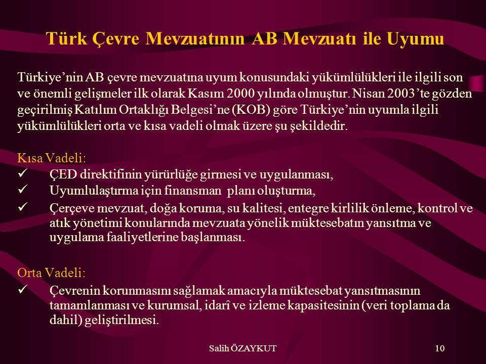 Türk Çevre Mevzuatının AB Mevzuatı ile Uyumu
