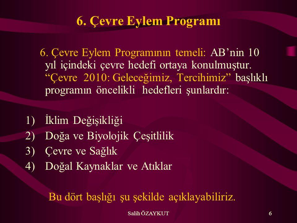 6. Çevre Eylem Programı