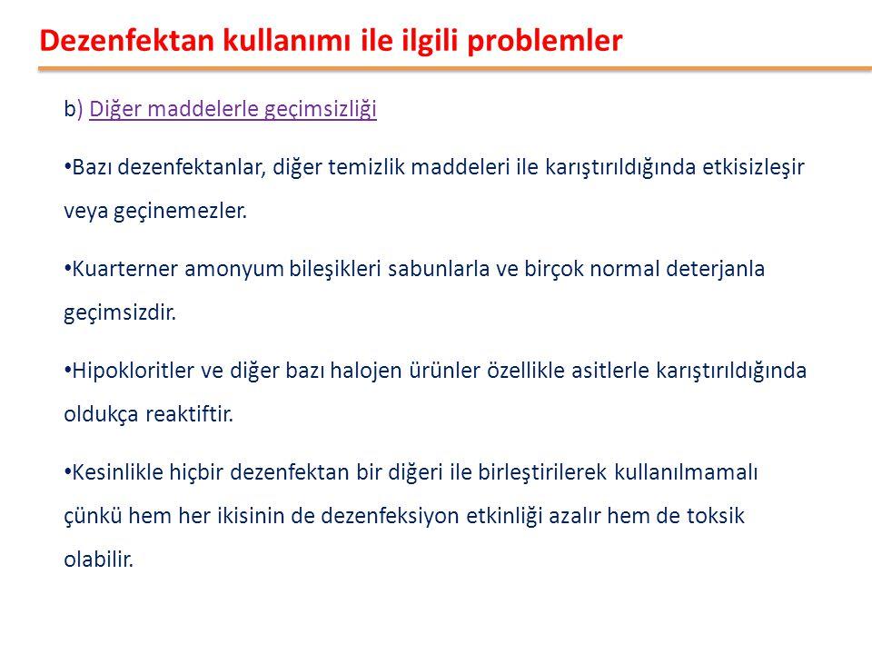 Dezenfektan kullanımı ile ilgili problemler