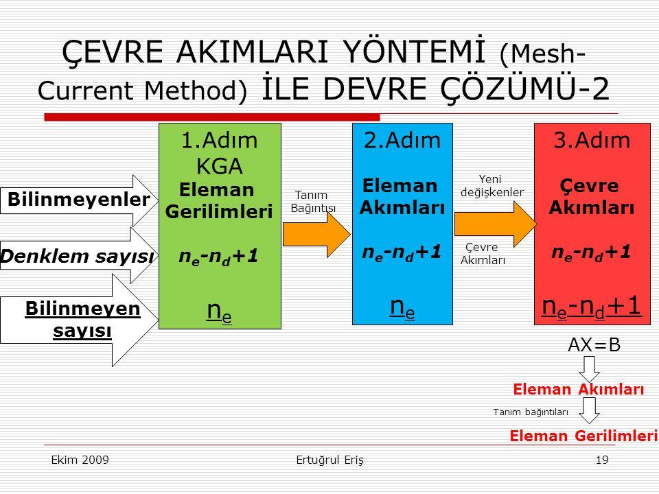 ÇEVRE AKIMLARI YÖNTEMİ (Mesh- Current Method) İLE DEVRE ÇÖZÜMÜ-2