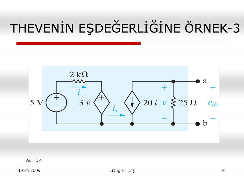 THEVENİN EŞDEĞERLİĞİNE ÖRNEK-3