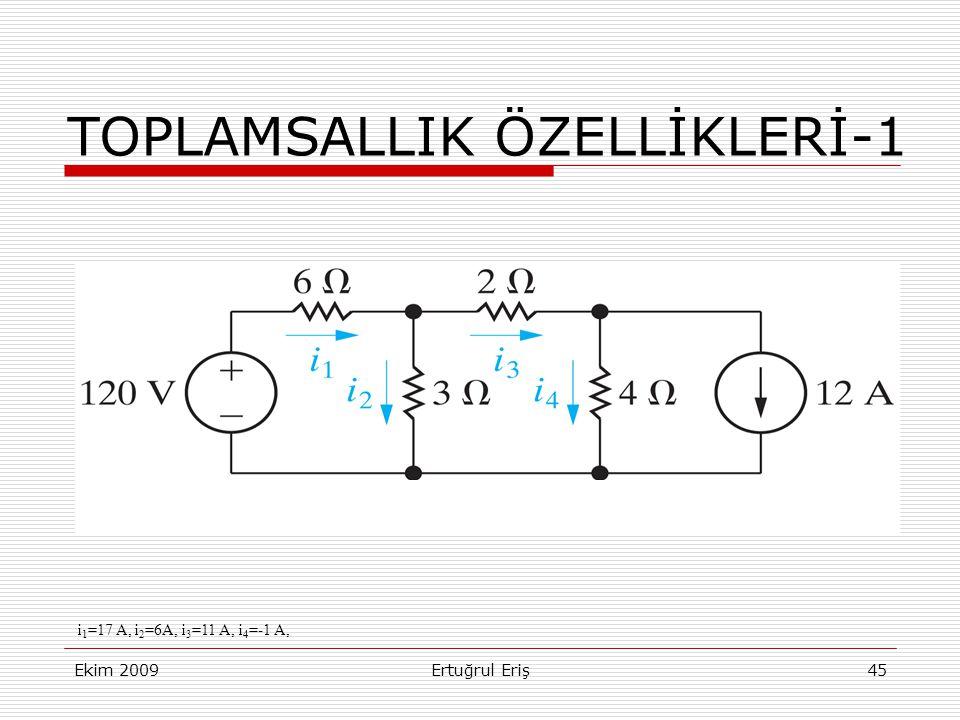 TOPLAMSALLIK ÖZELLİKLERİ-1