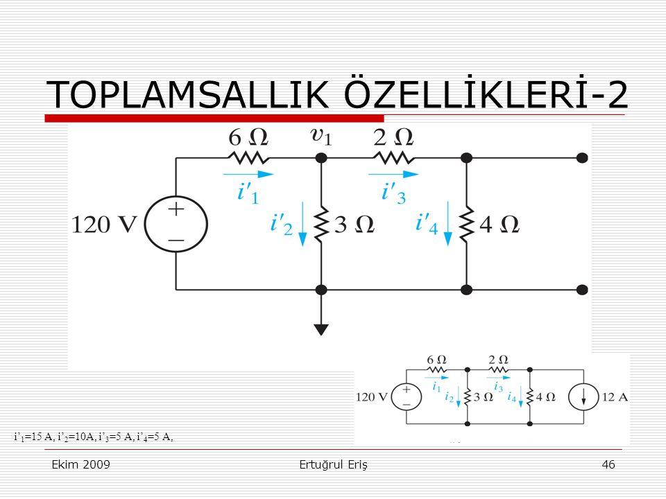 TOPLAMSALLIK ÖZELLİKLERİ-2