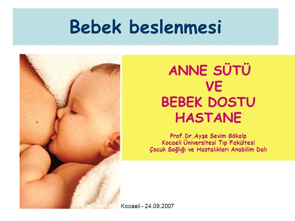 Bebek beslenmesi VE BEBEK DOSTU HASTANE ANNE SÜTÜ
