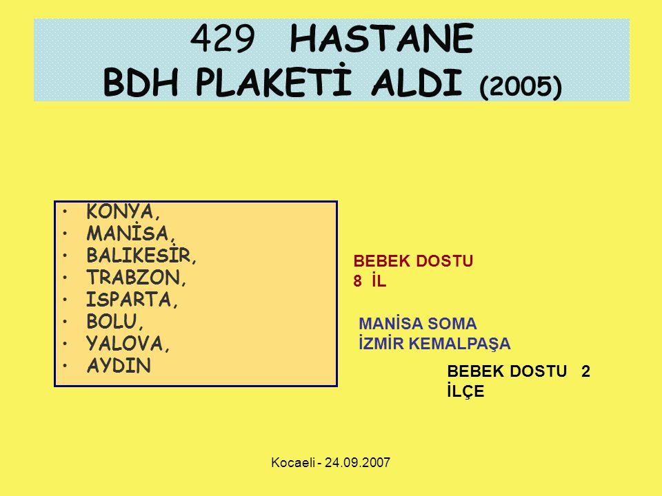 429 HASTANE BDH PLAKETİ ALDI (2005)