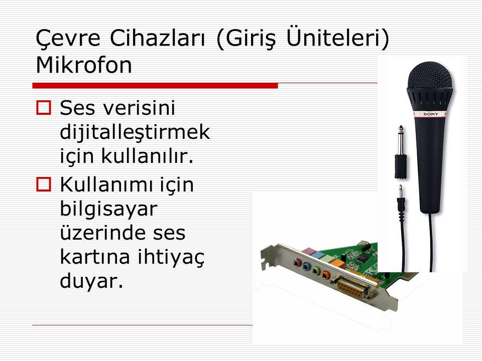 Çevre Cihazları (Giriş Üniteleri) Mikrofon