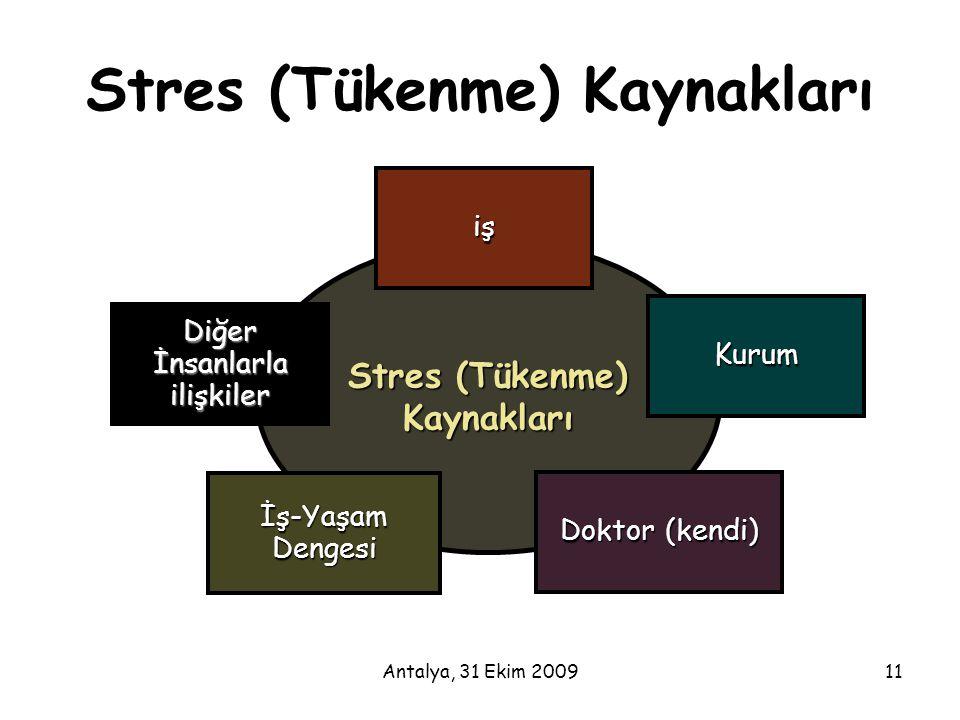 Stres (Tükenme) Kaynakları
