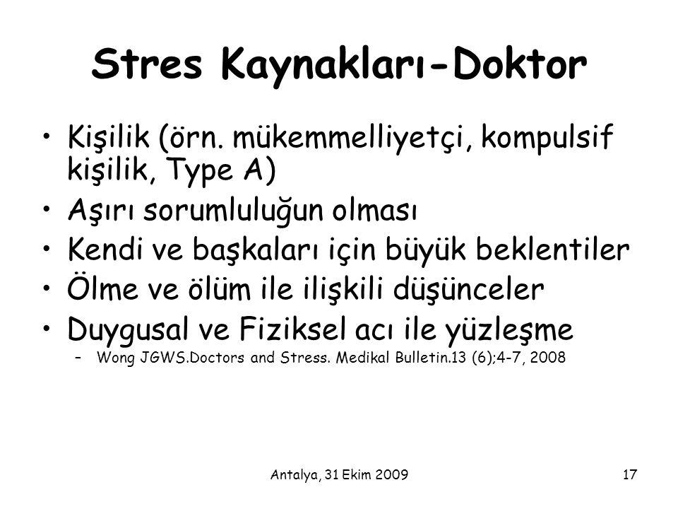 Stres Kaynakları-Doktor
