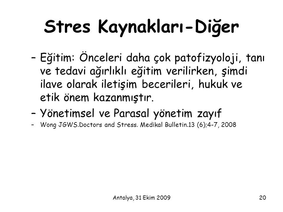 Stres Kaynakları-Diğer