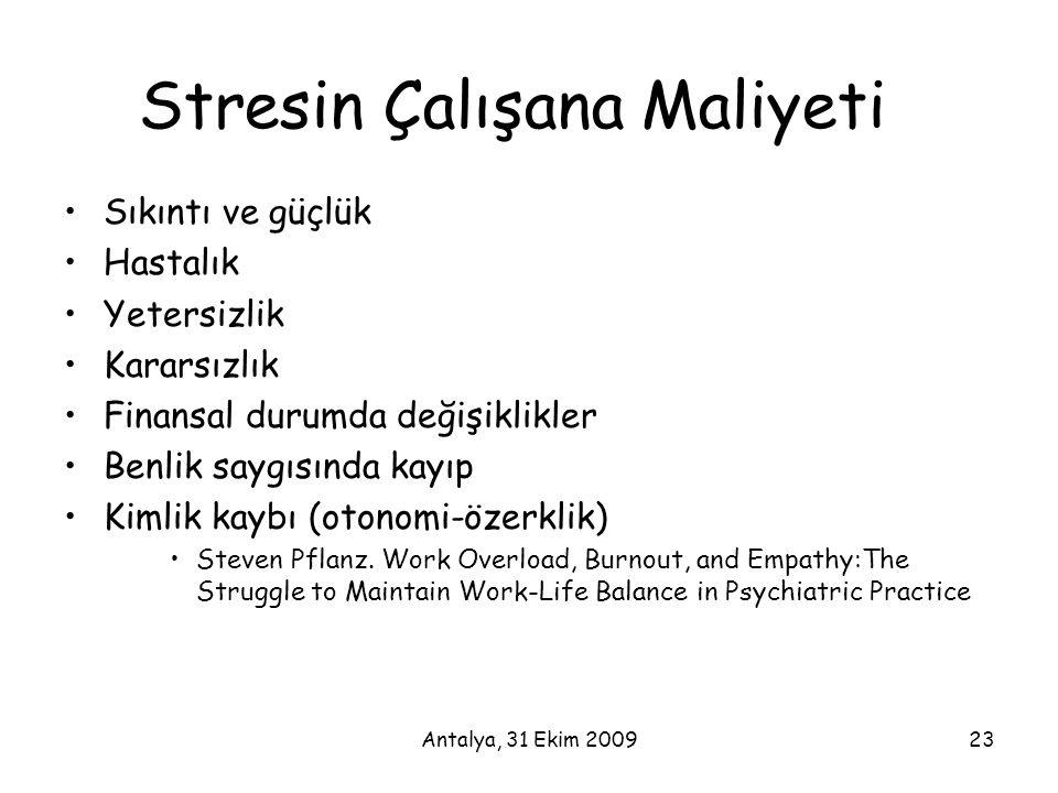 Stresin Çalışana Maliyeti