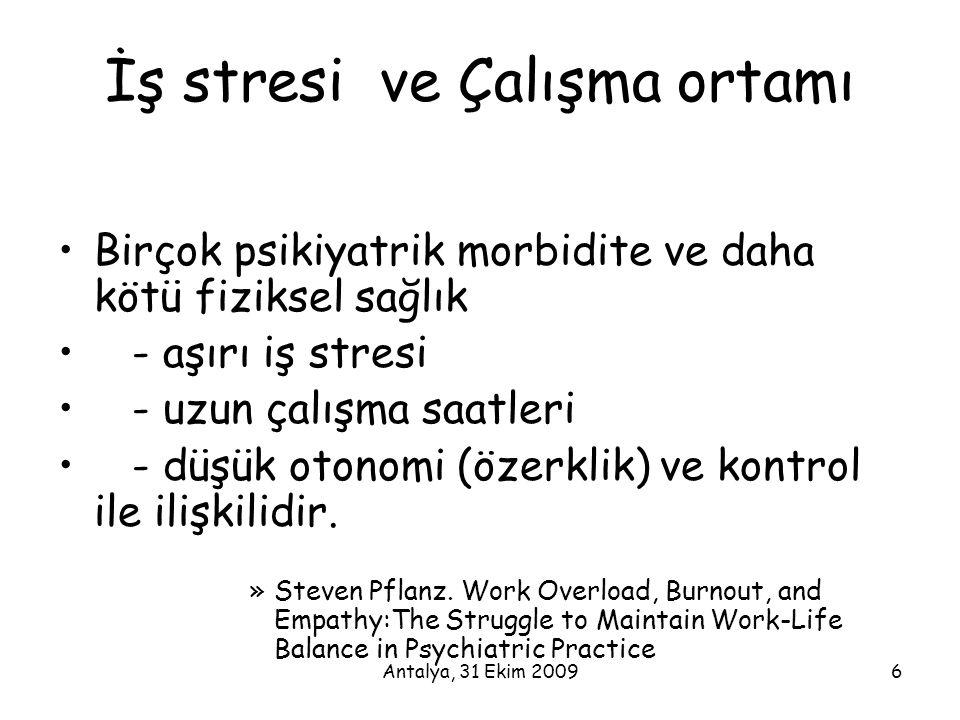 İş stresi ve Çalışma ortamı