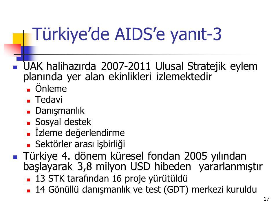 Türkiye'de AIDS'e yanıt-3