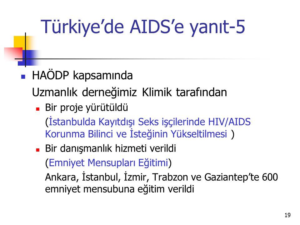 Türkiye'de AIDS'e yanıt-5