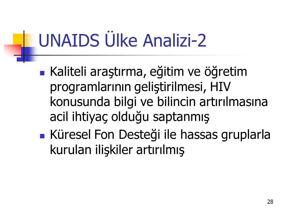 UNAIDS Ülke Analizi-2