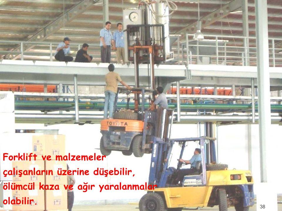 Forklift ve malzemeler