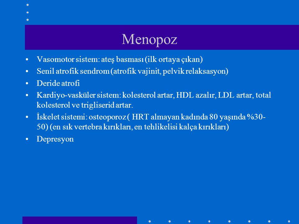 Menopoz Vasomotor sistem: ateş basması (ilk ortaya çıkan)