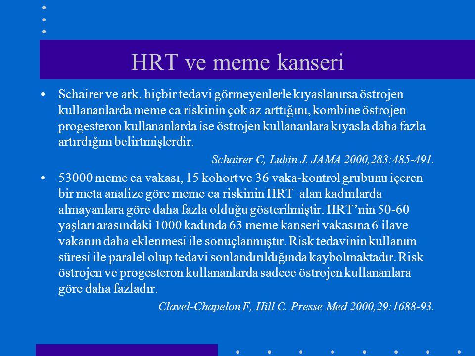 HRT ve meme kanseri