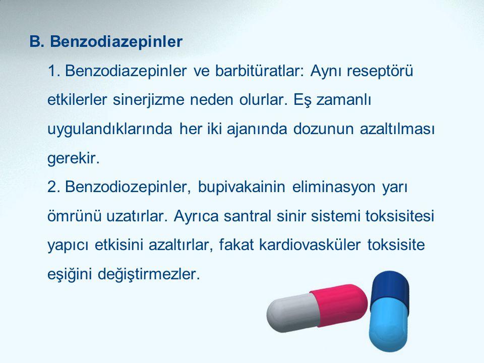 B. Benzodiazepinler 1.