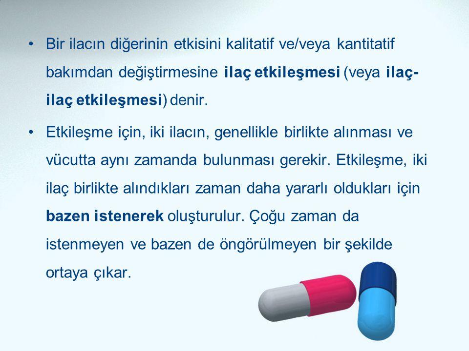 Bir ilacın diğerinin etkisini kalitatif ve/veya kantitatif bakımdan değiştirmesine ilaç etkileşmesi (veya ilaç-ilaç etkileşmesi) denir.